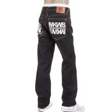 RMC Martin Ksohoh 1001 Silver Empire Cyber Monkey Dark Indigo Raw Slimmer Cut Embroidered Jeans REDM1146