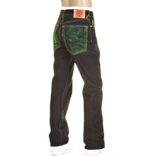 RMC Martin Ksohoh Green Logo and Tsunami wave 1001 slimmer cut model denim jean REDM0096