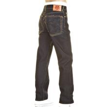 RMC Charcoal Tsunami Wave and Logo  Dark Indigo Slimmer Cut 1001 Model Raw Selvedge Denim Jeans REDM0238