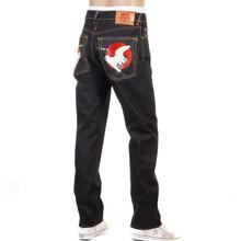 RMC Martin Ksohoh Slim Cut 1001 Dark Indigo RQP11058 Happiness Embroidered Raw Selvedge Denim Jeans REDM0466