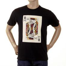 RMC Martin Ksohoh Regular Fit Poker Skull Playing Card Short Sleeve Crew Neck T Shirt in Black REDM1165