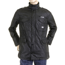 RMC Martin Ksohoh MKWS Self Patterned Black Regular Fit Field Jacket for Men REDM5471