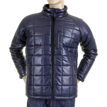 RMC Martin Ksohoh Nylon Zip Up Down Filled RQJ1088 Regular Fit Mens Quilted Jacket in Navy Blue REDM5840