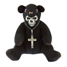 Yoropiko x Unlimitedsifr Limited Edition Black Teddy RQA11052 with Metal Skull Mask for Toy Collectors REDM0472