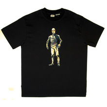 RMC Jeans X Headstone Collectors Item Black Regular Fit T Shirt with C-3PO Print HEAD3774