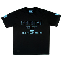RMC Jeans x Yoropiko Collectors Item Limited Edition Regular Fit Blue Seleven T-Shirt in Black YORO3776