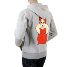 RMC Jeans Marl Grey Regular Fit RQZ1075 Zipped 100% Cotton Hooded Mens Sweatshirt with My Girl Print REDM0995