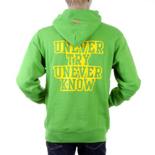RMC Martin Ksohoh Mens Large Fit RWC141264 Lime Green Overhead Hooded Sweatshirt with UNTUNK Print REDM0896