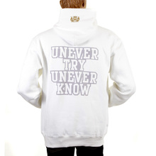 RMC Martin Ksohoh White Hooded Large RWC141264 Fit UNTUNK Print Overhead Sweatshirt for Men REDM0894