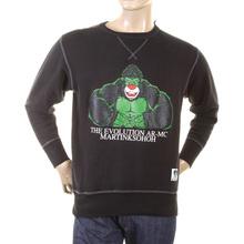 RMC Martin Ksohoh Large Fitting Black RWH141264 Crew Neck King Kong RMC Evolution Printed Sweatshirt REDM0923
