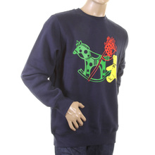 RMC Martin Ksohoh Large Fitting Navy Blue RWC141264 Crew Neck Toy Friend Printed Sweatshirt REDM0646