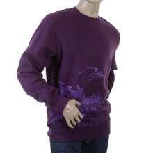 RMC Martin Ksohoh Large Fitting Purple RWC141161 Crew Neck Lilac Toyo Story Mountain Printed Sweatshirt REDM0946