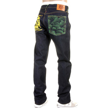 RMC Martin Ksohoh jeans Tsunami Wave with Painted Logo slimmer cut jeans REDM1425