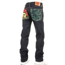 RMC Martin Ksohoh slim cut jeans Tsunami Wave and Painted Logo jeans REDM1715