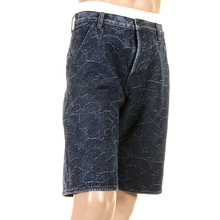 RMC Martin Ksohoh shorts dark blue embroidered tsunami wave denim shorts REDM3739