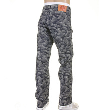 RMC Martin Ksohoh Slim fit white fullly embroidered tsunami wave RMC 1001 model jeans REDM5217