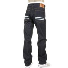 RMC Martin Ksohoh Slim Cut 1001 Model Sky Hand Painted Mens Super Exclusive Dark Indigo Raw Denim Jeans REDM5656