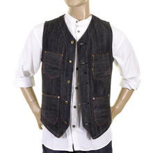 Sugar Cane waistcoat Fiction Romance non wash denim 30s model SC12242N work vest top CANE1075