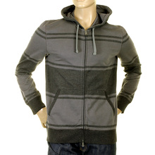 Boss Black hoody Scarno 05 50207095 025 grey zip up Hugo Boss sweatshirt BOSS2460