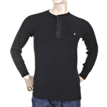 Sugarcane Black Fiction Romance SC65293 Regular Fit Henley Neck Long Sleeve T-shirt for Men CANE1083