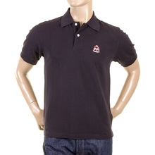 Evisu Regular Fit Short Sleeve Black Polo Shirt with God Head Logo on Chest EVIS0716