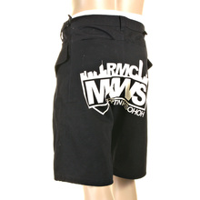 RMC Martin Ksohoh MKWS Super Exclusive Zip Fly Equipped Mens Black Shorts with Large Printed Logo REDM1007