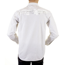 Etienne Ozeki chalk white striped shirt ETIE1809