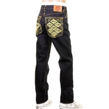 RMC Super Exclusive Slim Cut 1001 Mens Indigo Raw Selvedge Diamond Crane Embroidered Denim Jeans REDM1005