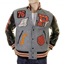 Sugarcane Philadelphia Award WV12310 Melton Wool Regular Fit Letterman Jacket for Men CANE1085