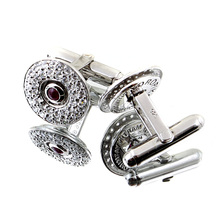 RMC Martin Ksohoh Diamond and Ruby Custom Made Cuff Links Presented In Gift Box RMC2402
