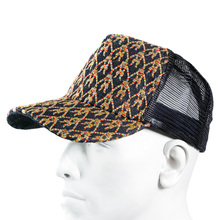 RMC Jeans Mens Rainbow Embroidered Logo Cap with Black Mesh REDM9100