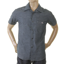 Evisu Deluxe 1 pocket early original genuine rare ES03MSS22A TE08 blue chambre shirt EVIS0137