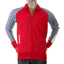 Evisu Mens Early and Original Red Regular Fit Zip Front Collared Osaka Track Jacket EVIS0306