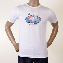 Evisu White Genuine 100% Cotton Crew Neck Short Sleeve Larger Fitting T-shirt EVIS0337
