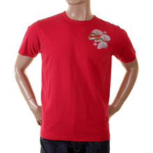 Evisu red early original genuine rare printed logo EA05HTS08 J07 t shirt EVIS6803
