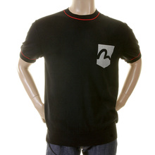 EEvisu black early original genuine rare printed logo pocket ES03FPL02 K13 knitted top EVIS0335
