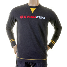 Evisu Genuine Rare Blue Black Larger Fitting Crew Neck Cotton Evisuzuki Printed T-Shirt EVIS1116