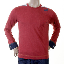 Evisu brick red early original genuine rare french denim cuff EV1977 JM1 t shirt EVIS1081