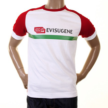 Evisu Mens Early Original White With Red Cotton Raglan Short Sleeve Crew Neck Large Fit Fuji T Shirt EVIS0233