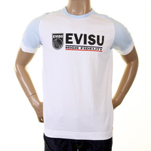 Evisu early original genuine rare white with sky ES03MTS02 J07 philips t shirt EVIS0228