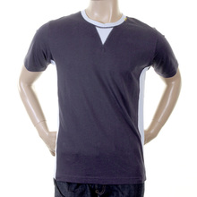 Evisu Mens Cotton Crew Neck T-shirt in Ink Blue EVIS1265
