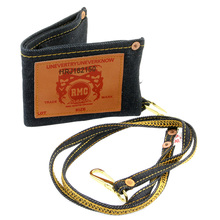 RMC Martin Ksohoh Unisex Indigo Denim Key Chain Included Double Bill Fold Wallet with Selvedge Finish REDM0487