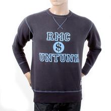 RMC Martin Ksohoh Washed Navy Regular Fit RWH141263 Crewneck Dollar UNTUNK Sweatshirt for Men REDM1034