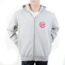 RMC Martin Ksohoh RJK141160 Regular Fitting Zipped Front Untunk Print Hooded Sweatshirt in Grey Marl REDM1035