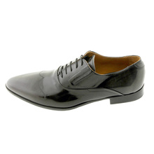 DiSanto shoes lace up wing tip black & grey leather shoe 2949 DISA1128