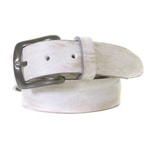 Boss Orange Label 50235109 vintage light grey leather Hugo Boss belt BOSS2927