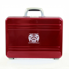RMC Martin Ksohoh X Zero Halliburton Silver Handle Signature Limited Edition Aluminium Briefcase in Red RMC1438
