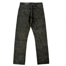 Evisu rinsed black denim jeans EVIS0687