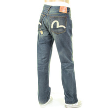 Evisu Osaka Repair Shop 5 Pocket Loose Fit Selvedge Denim Jeans for Men EVIS0738
