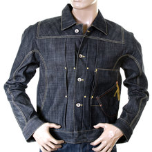 Ijin mens raw selvedge denim J6030 75 slim pleat jacket IJIN5284